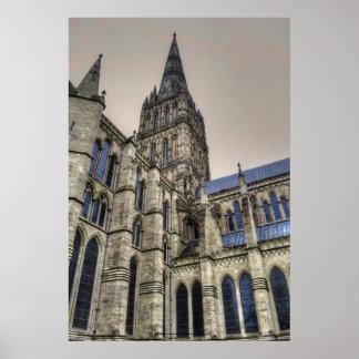 Catedral y chapitel Wiltshire Inglaterra de Salisb Poster
