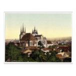 Catedral y imagen de Maria, Erfurt, Thuringia, Postal