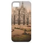Catedral y plaza, Italia de Milano del vintage Funda Para iPhone SE/5/5s
