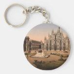 Catedral y plaza, Lombardía, Italia de Milano Llavero