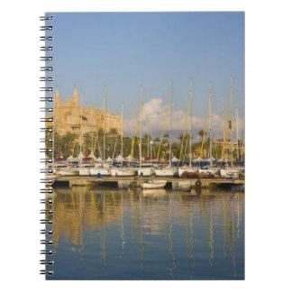 Catedral y puerto deportivo, Palma, Mallorca, Espa Cuadernos