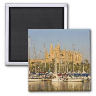 Catedral y puerto deportivo Palma Mallorca Espa Imanes Para Frigoríficos