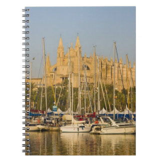 Catedral y puerto deportivo, Palma, Mallorca, Espa Libretas