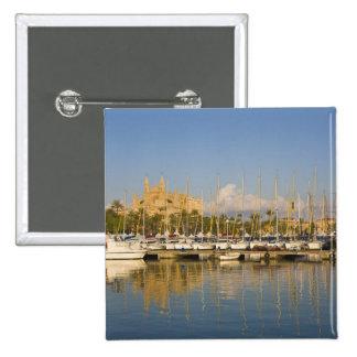 Catedral y puerto deportivo, Palma, Mallorca, Espa Pin