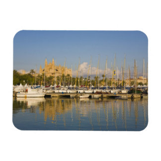 Catedral y puerto deportivo, Palma, Mallorca, Espa Rectangle Magnet