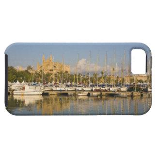 Catedral y puerto deportivo, Palma, Mallorca, Funda Para iPhone 5 Tough
