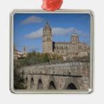 Catedrales de Salamanca, vistas del romano de Adorno Navideño Cuadrado De Metal