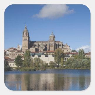 Catedrales y ciudad 2 de Salamanca Pegatina Cuadrada