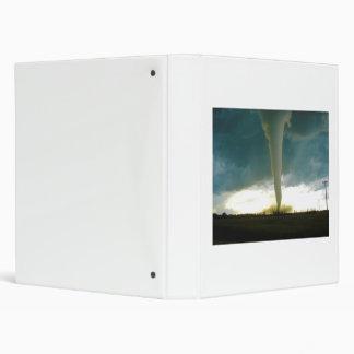 Category F5 Tornado Approaching Elie Manitoba 3 Ring Binder