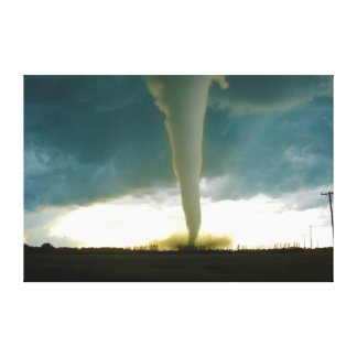 Category F5 Tornado Approaching Elie Manitoba Canvas Print