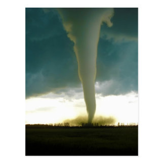 Category F5 Tornado Approaching Elie Manitoba Postcard