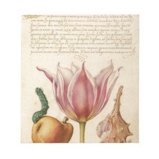 catepillar rosado del tulipán bloc de notas