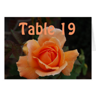 Catered Events Numbered Seating Orange Rose Greeting Card