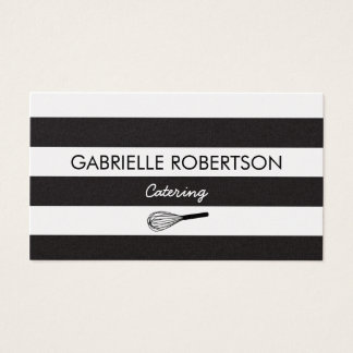 Caterer business card, gold paper business card