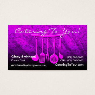 Private services business cards templates zazzle caterer catering business card reheart Images