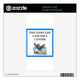 CATERER DECALS FOR THE iPhone 4S