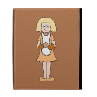 Caterer with Hot Soup. iPad Folio Case