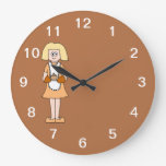 Caterer with Hot Soup. Round Wallclock
