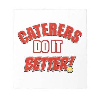 Caterers do it better notepad