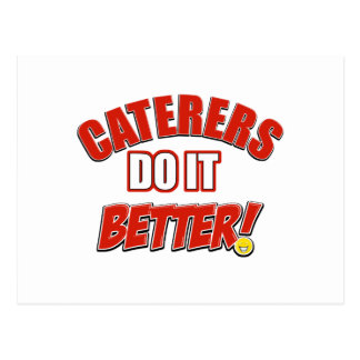 Caterers do it better postcard
