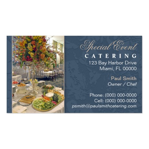 Catering business card zazzle for Catering business cards samples