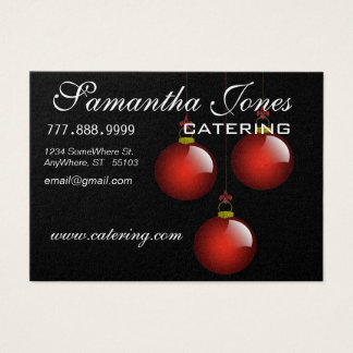 Catering Business Card with Cute Turkey