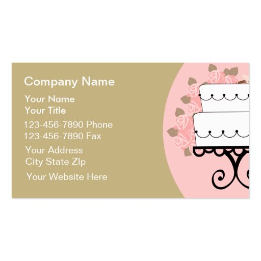Catering business cards zazzle for Catering business card template
