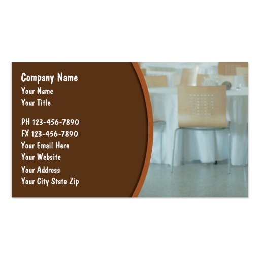 Catering business cards 2 double sided standard business for Catering business cards samples