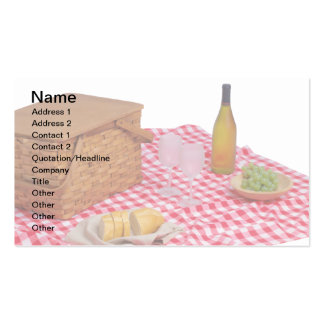 Catering Business Cards, Red Picnic Tablecloth