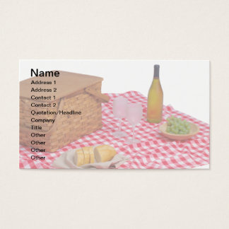 Catering Business Cards, Red Picnic Tablecloth Business Card