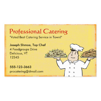 Catering Chef Double-Sided Standard Business Cards (Pack Of 100)