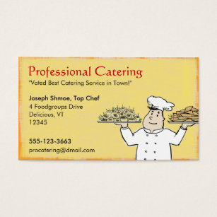 Catering service business cards templates zazzle catering chef business card colourmoves