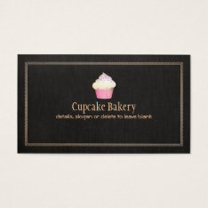 Catering Cupcake Bakery Pastry Chef Business Card at Zazzle