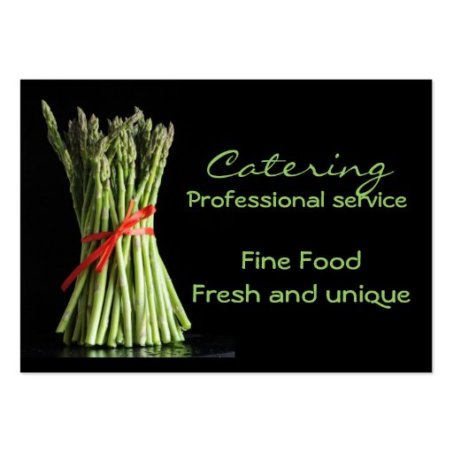 Catering fine food fresh and business card templates for Catering business cards samples