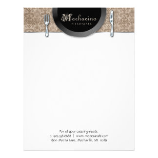 Catering Letterhead Stationery Cutlery Plate Beige