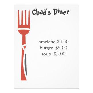 "Catering menu 8.5"" x 11"" flyer"