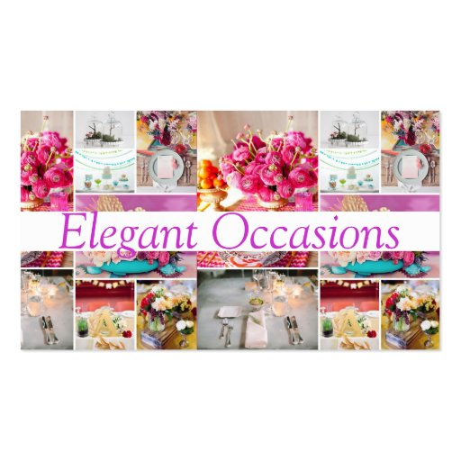 Catering Party Service Decorations Occasions Business Card Template