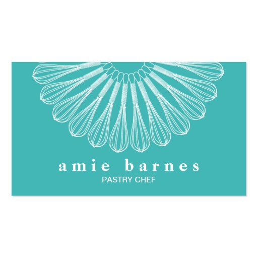 Catering Pastry Chef Whisk Logo Bakery Double-sided Standard Business Cards (pack Of 100)