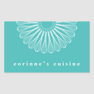 Catering Pastry Chef Whisk Logo Bakery Rectangular Sticker