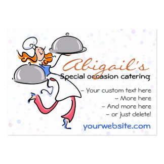 Catering Personal Gourmet Chef  template Large Business Cards (Pack Of 100)
