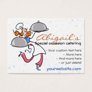 Catering Personal Gourmet Chef  template Business Card