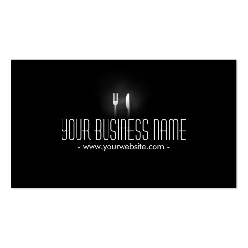 Catering Professional Dining Tools Modern Business Card