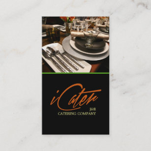 Food service business cards zazzle catering service food party planner business card colourmoves