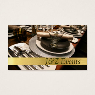 Catering Service, Food, Wedding Party Planner Business Card