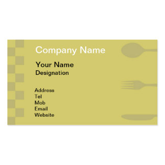 Catering Services Business Card