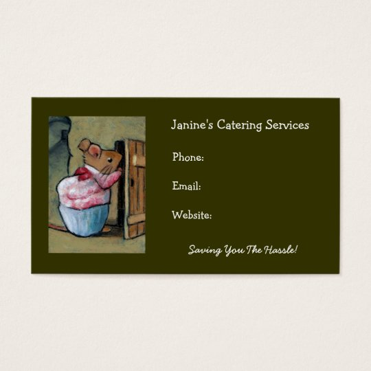 Catering Services: Mrs.Tittlemouse After B. Potter Business Card