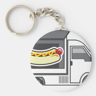 Catering Van Food Truck Keychain