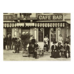 Catering vintage French cafe business card
