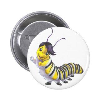 Caterpillar abotona pin