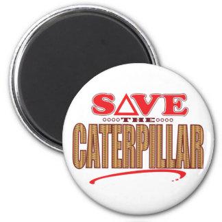 Caterpillar ahorra imán redondo 5 cm